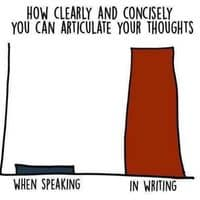 I can't articulate my thoughts in writing or speech so yaaayy