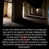 Faking mental illness