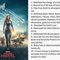 The Powers of Captain Marvel
