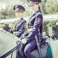 Mounted police in Russia