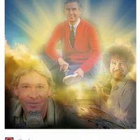 The Trinity of wholesomeness (Steve Irwin, Bob Ross, Mr. Rogers)