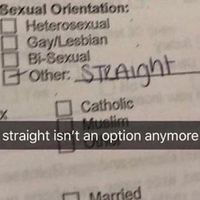 No one is straight anymore