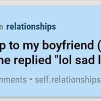 Lol sad