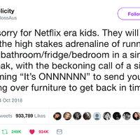 Netflix era kids will never know