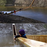 This is the Moses Bridge in the Netherlands