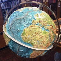 Globe with relief looks great