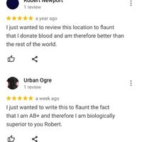 I found this in the reviews of my local blood donation center