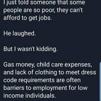 To poor to work