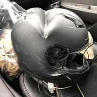 The guy wearing this survived (wear your helmet on your motorcycle, kids)
