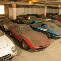 36 Vettes from an 80s promtional ..One from each production year from 1953 to 1989 found