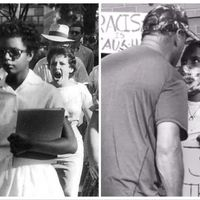The fact that these pictures are taken 63 years apart is disconcerting