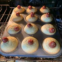 Tried to follow a pinterest recipe for corndog muffins. They did not turn out as planned