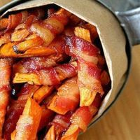 Individual bacon wrapped fries