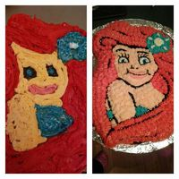 I tried to make my niece an Ariel cake for her third birthday and it came out looking