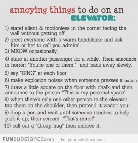 10 Most Annoying Things To Do In A Elevator