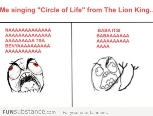 Singing the lion king song
