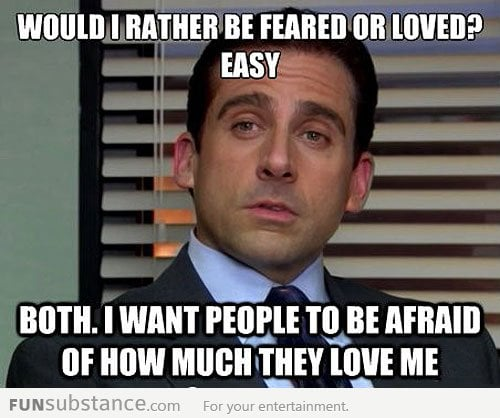 Feared or Loved...