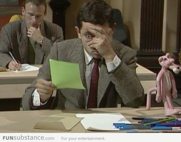 Your face during exams