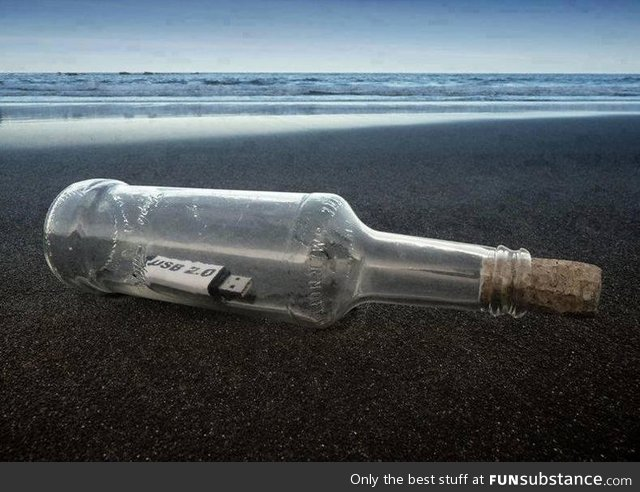 The future message in a bottle