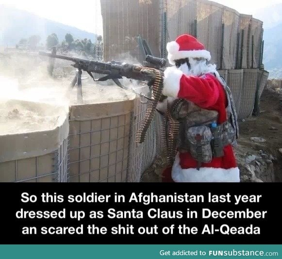 Santa claus the soldier