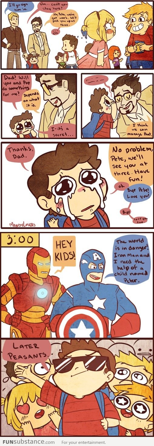 When Tony Stark Has a Son