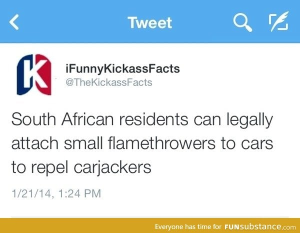 Flamethrower in south Africa