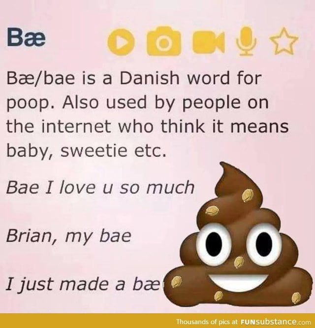 tumblr/bae means poop