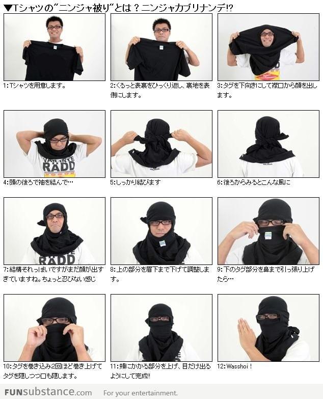 Как из шарфа сделать маску ниндзя из