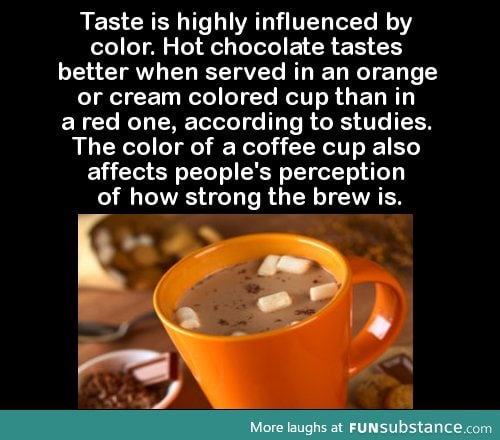 Taste is highly influenced by color