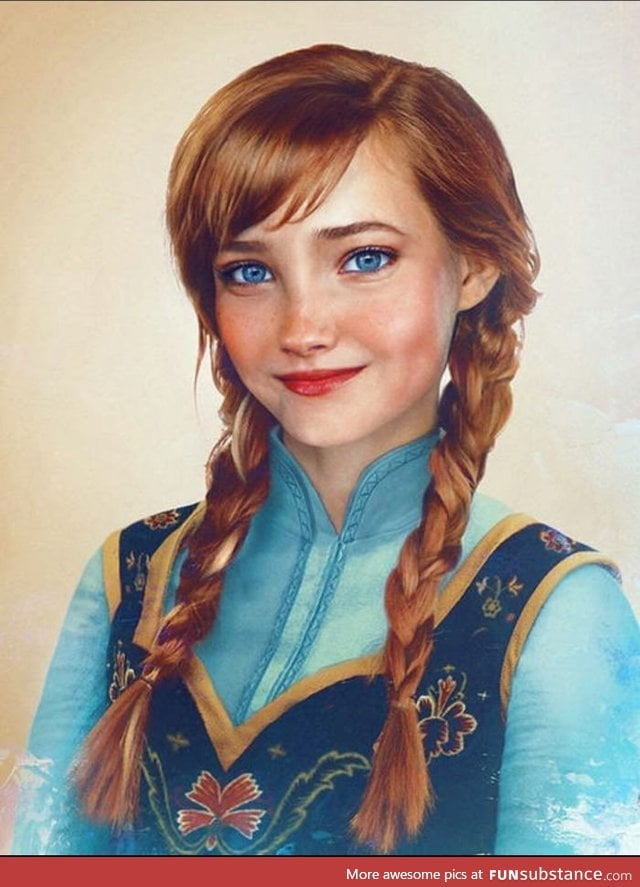 This is Anna from Frozen if she was a real person