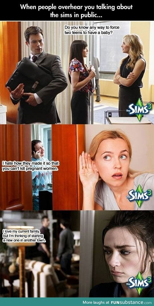 Talking about Sims in public