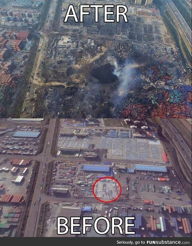 Tianjin blast - I wonder what China hides from us underground : A Flame Dragon?