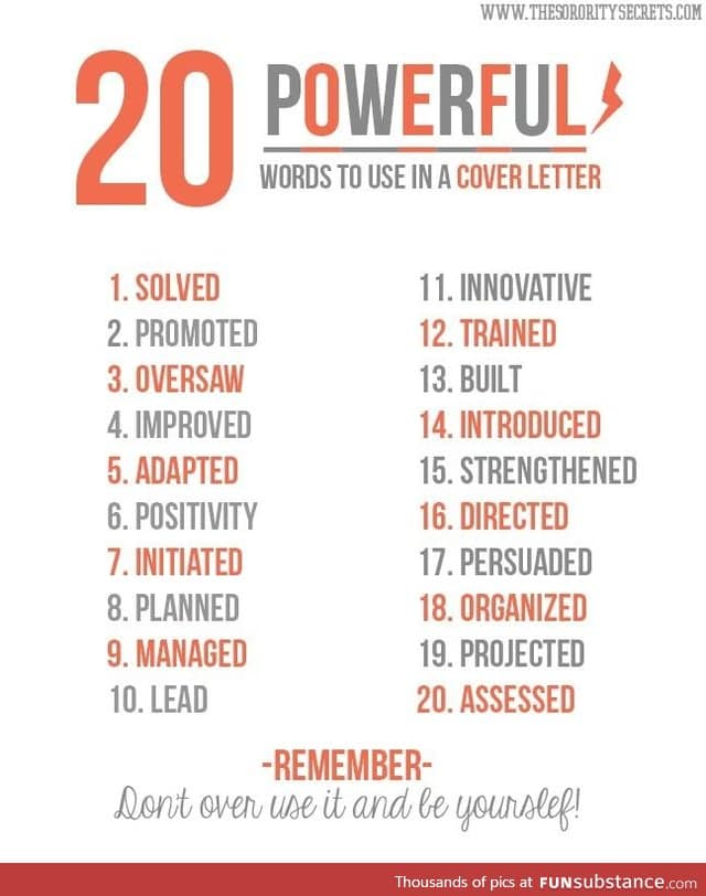 List Of Powerful Words To Use In Essays