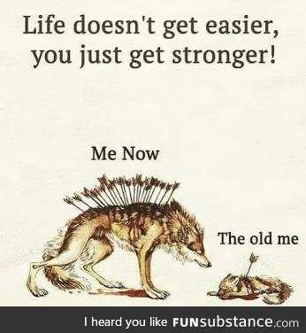 You just get STRONGER!