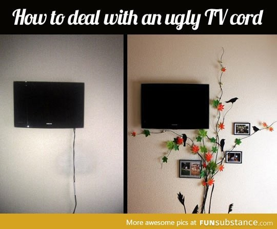 Best way to hide ugly tv cables