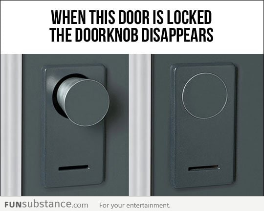 Security door knob