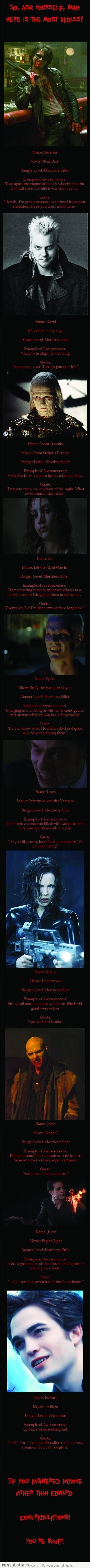 So Who Is Your Favorite Vampire?