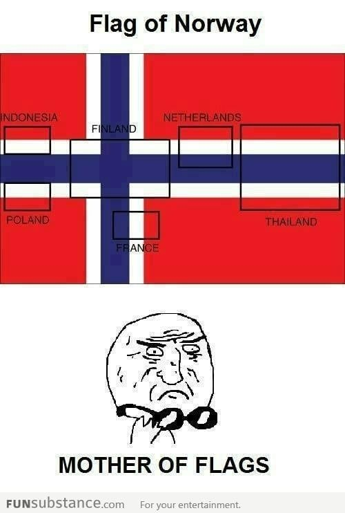 Flag of Norway Mother Of Flags!