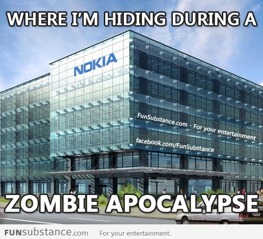 Where I'm hiding during a zombie apocalypse