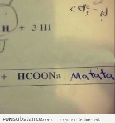 Solving chemistry problems like a boss