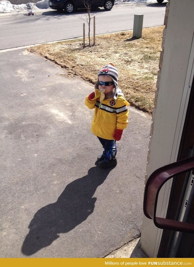 Let's not forget Carter, who two years ago knocked on a man's door asked for a banana