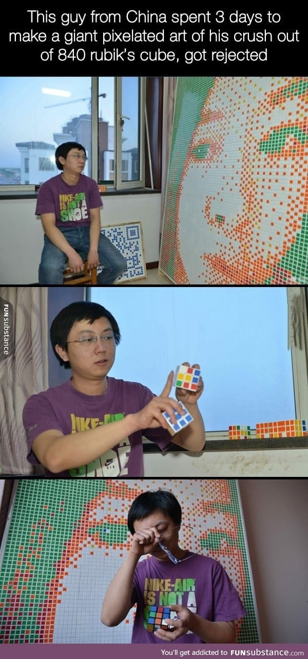 Don't be sad, you still have 840 rukib's cube with you