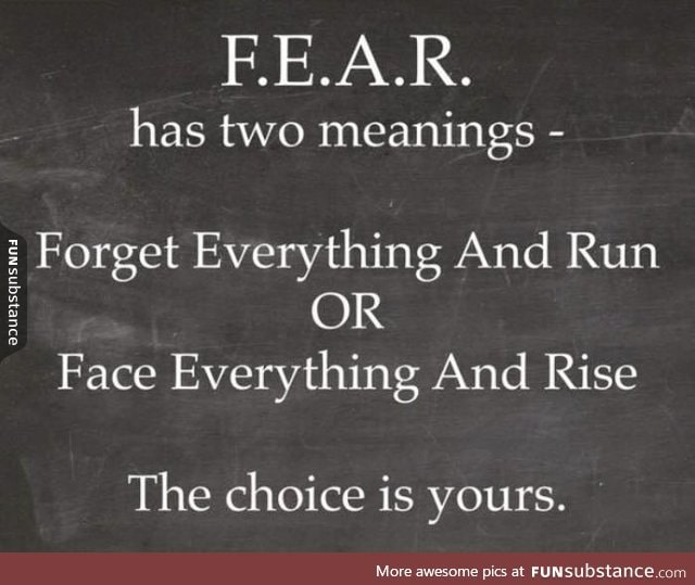 Two definitions of fear