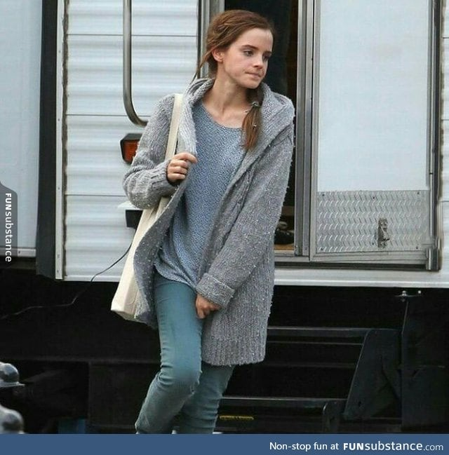 Emma Watson is pretty without make up too
