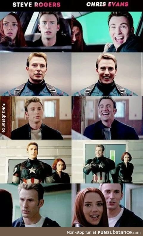 Steve Rogers Vs Chris Evans Funsubstance