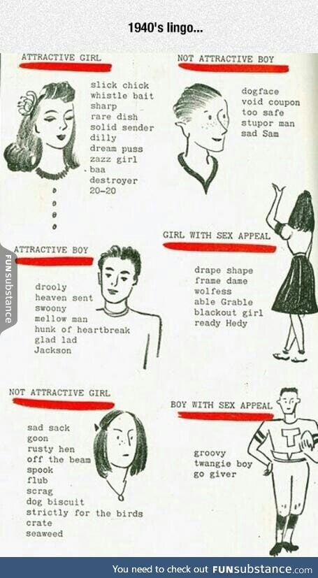 Slang words from the '40s.