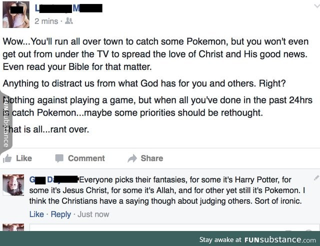Christian rant about Pokemon Go