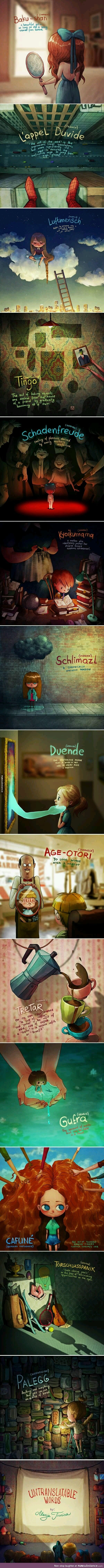 Untranslatable Words Turned Into Drawings