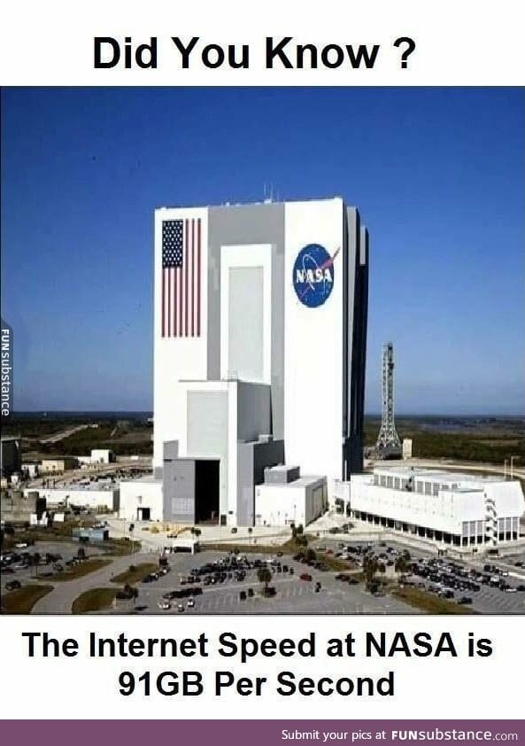NASA internet speed - FunSubstance