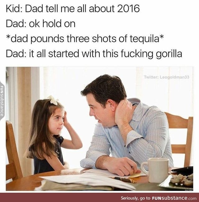I will need tequila to describe this year too...